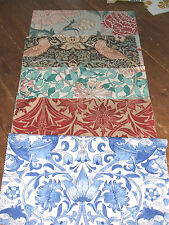 5  SANDERSON WILLIAM MORRIS CURTAIN FABRIC SWATCHES COTTON FABRICS