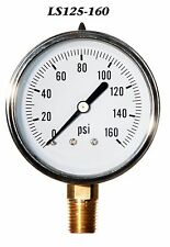 New Hydraulic Liquid Filled Pressure Gauge 0-160 PSI