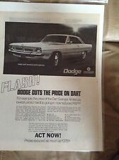 Original 1970 Dodge Dart Swinger Magazine Ad - Dodge Cuts the Price on Dart