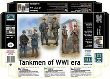 PLASTIC MODEL FIGURES TANKMEN OF WWI ERA 1/35 MASTER BOX 35134 DE