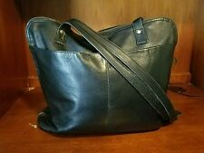 Frye Bench-Crafted Black Soft Leather Tote Shoulder Zip Around Bag