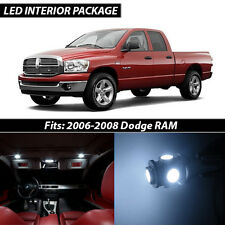 2006-2008 Dodge RAM 1500 2500 3500 White Interior LED Lights Package Kit