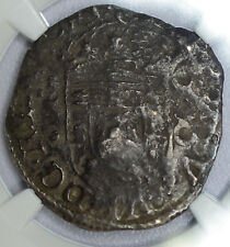 Brazil 250 Reis (1663)ND Fine Details NGC silver KM#332 Countermark Portugal