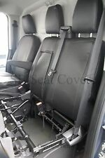 FORD TRANSIT VAN SEAT COVERS 2014 ONLY MWB MADE TO MEASURE BLACK LEATHERETTE