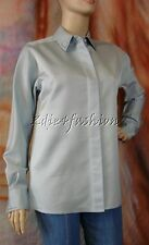 $1500 New MARC JACOBS Silver Blue Wool Silk Metal Beaded Collar Cuff Shirt Top 8