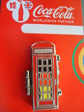COCA COLA PIN BADGE - LONDON 2012 - TELEPHONE BOX - GERMANY - MOC