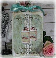 "New! ""Rose de Provence""~Shabby Chic~Country Cottage style~Wall Decor Sign"