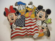 Patriotic Mickey Mouse And Gang With American Flag Disney Pin