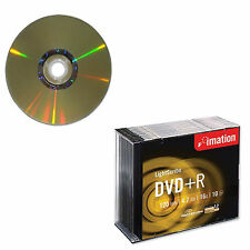 40 Imation DVD+R Lightscribe 16x 4.7GB 120 Mins Video Data Slim Jewel Case