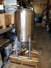 Precision Stainless 100 gal 316L Stainless Steel Chemical Bio Reactor Vessel