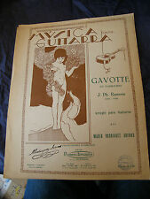 Partition Guitare Gavotte Le Tambourin J Ph Rameau Music Sheet Rodriguez Arenas