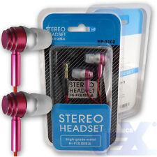Pink Aluminum Earbuds Earphones Headphones EP-3102-4 High Quality