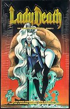 1995 LADY DEATH 2 II ALL CHROMIUM  Sealed Box Autograph Clearchrome Chase Insert