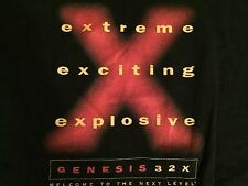 Sega Genesis 32X Video Game System Promotional Shirt XL vintage promo rare mega