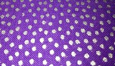 Silver dotty purple fabric JOANN BARGAIN CRAFT material UK fat quarters