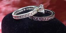 2-ring CZ Engagement Bridal Wedding Ring Set (women's)