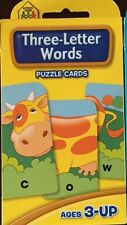 Early Learning Three-Letter Words Puzzle Flash Cards Ages 3-up