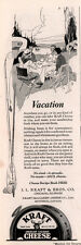 1923 AD  KRAFT CHEESE SPREADABLE TIN CAMPING PICNIC MOBILE HOME