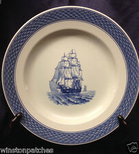 "ROYAL COPENHAGEN MARINE DINNER PLATE 9 7/8"" BLUE SHIP 4602 - 948 CHIPPED"
