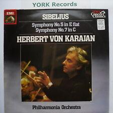 SXLP 30430 - SIBELIUS - Symphonies No 5 & 7 KARAJAN PO - Excellent Con LP Record