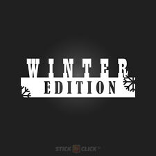 WINTER EDITION Auto Aufkleber Winterauto Sticker Schnee Tuning Decal Shocker dub