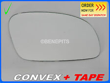 Wing Mirror Glass VW NEW BEETLE 2002-2010 CONVEX + TAPE Right Side #1035