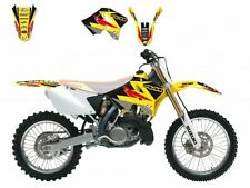 BLACKBIRD SUZUKI RM 125 2001 KIT GRAFICHE ADESIVI DREAM 3 ROSSE NERE GRAPHIC