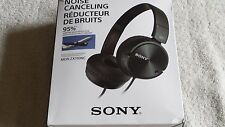 """NOISE CANCELING   SONY MDR-ZX110NC   STEREO  HEADPHONES  """"BLACK"""""""