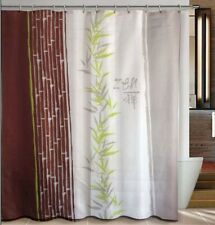 Zen Of Bamboo Traditional Bathroom Fabric Shower Curtain w/ 12 Hooks Great Gift