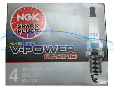 4 NGK V-POWER RACING SPARK PLUGS R5671A-8 4554 COLDER HIGH POWER TURBO NITROUS