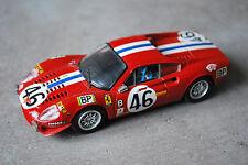 LE MANS 1972 DINO FERRARI 246 GT #46 1/43 BANG SANS BOITE