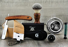 5 Piece Vintage CLASSIC OLD Style Men's Shaving Set Cut Throat Razor SHAVE BRUSH