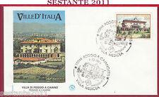 ITALIA FDC FILAGRANO VILLE VILLA MEDICEA POGGIO A CAIANO FI 1986 Y328