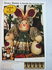 Honey Bunny And Bumble Bee Friends Craft Pattern Rabbit Stuffed Doll