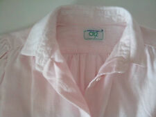 012 Benetton Pink and white striped long sleeve Blouse  Shirt   1988  VIntage