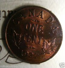 1927 Canada 1 Cent  ICCS Certified HIGH GRADE AND very  SCARCE