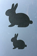 Rabbit Animal A4 Mylar Reusable Stencil Airbrush Painting Art