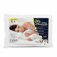 "Serta 2 pk Bed Pillow Memory Foam Cluster Pillows - 26"" x 20"" with Cover - NEW!"