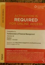 CengageNow online access for Fundamentals of Financial Management 8th Edition