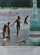PUBLICITE BADOIT SOURCE ST GALMIER EAU GAZEUSE VACANCE MER DE 1962 FRENCH AD PUB