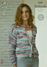 KNITTING PATTERN Ladies/Childrens Easy Knit Drop Stitch Cardigan Bamboozle 4388