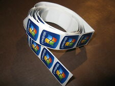 100 pcs Microsoft Windows 7 18mm x 18mm Sticker Label Case Badge Logo Window
