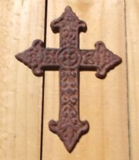 "Small Cross ~ Cast Iron ~ Antique Finish { 7"" Tall } #7 ~ by PLD"