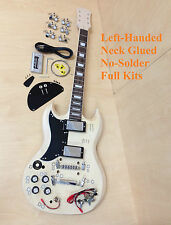 Left-handed SG Style Electric Guitar DIY Kits,Set Neck,No-Soldering+Tuner,Picks