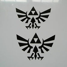 2 x Zelda Decals - Vinyl Stickers Triforce Car Skate Snowboard PC Computer PS4