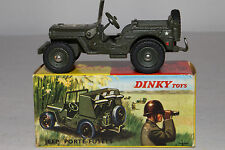 1960's French Dinky #828 Rocket Carrier Jeep, Nice with Original Box, Lot #3
