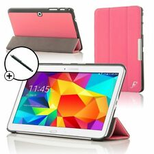 Leather Pink Smart Folding Case Cover for Samsung Galaxy Tab PRO 10.1 + Stylus