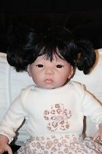 "Kathy Smith-Fitzpatrick doll 20"" life like asian black hair cute"