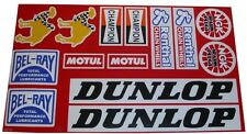 Stickers Assorted Dunlop,NGK,Dunlop,Champion,Renthal,Bel-Ray