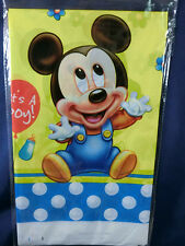 Baby Mickey Mouse Birthday party supply  decoration table cloth cover 220x132cm